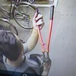 自転車泥棒の犯行映像