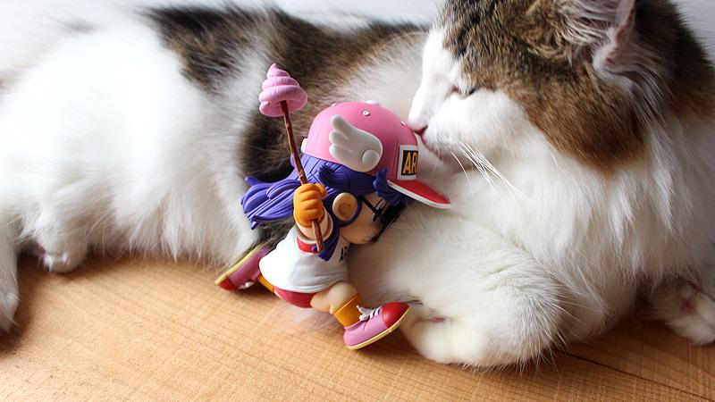 アラレちゃん フィギュア 猫